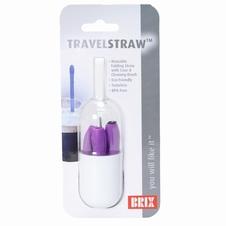 Travelstraw, opvouwbaar siliconen rietje
